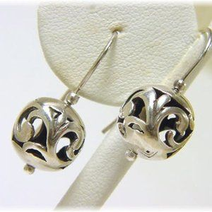 Silpada Sterling Silver Spinning ball earrings
